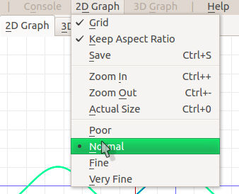 graph smoothness options: poor, normal, fine and very fine